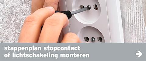 schakelingen - navi banner stappenplannen stopcontact of lichtschakeling monteren