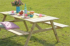 Meubels van hout maken - Picknicktafel