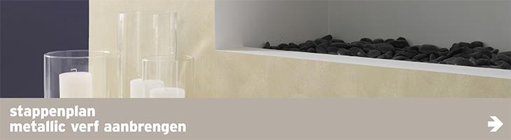 Metallic muurverf - stappenplan metallic verf aanbrengen