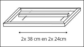 Stap 4 - Dienblad maken - Bodem frame maken